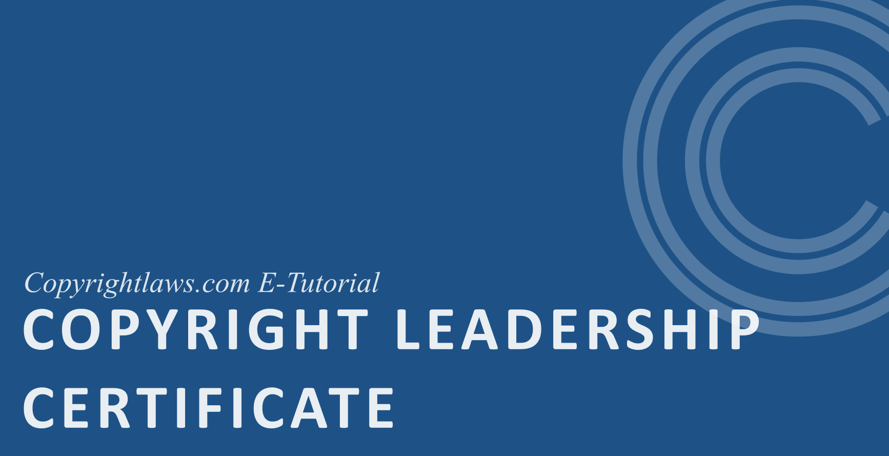copyright leadership certificate