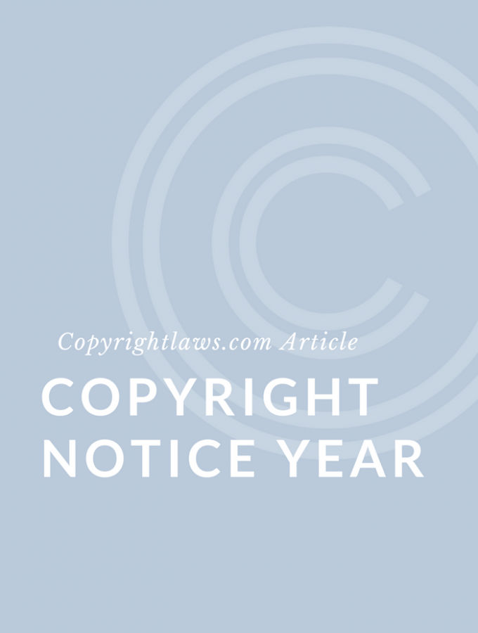 Copyright Notice Year