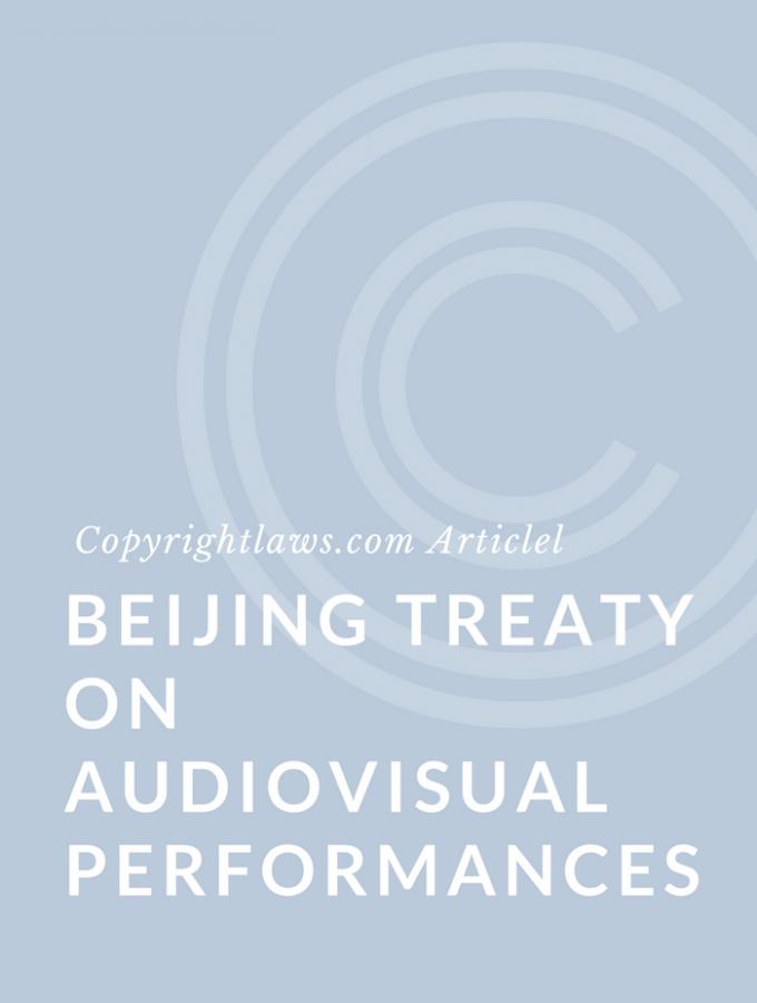 New International Copyright Treaty under WIPO