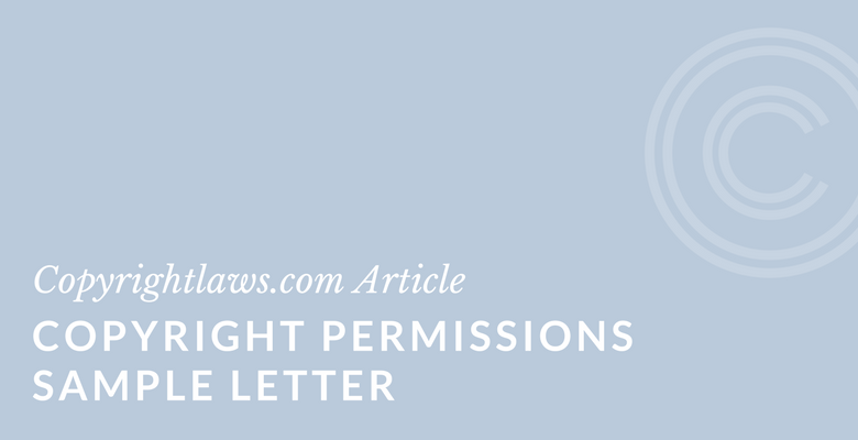 Permissions letter for copyright clearance