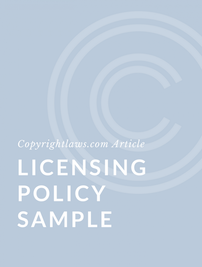 Licensing Policy Sample