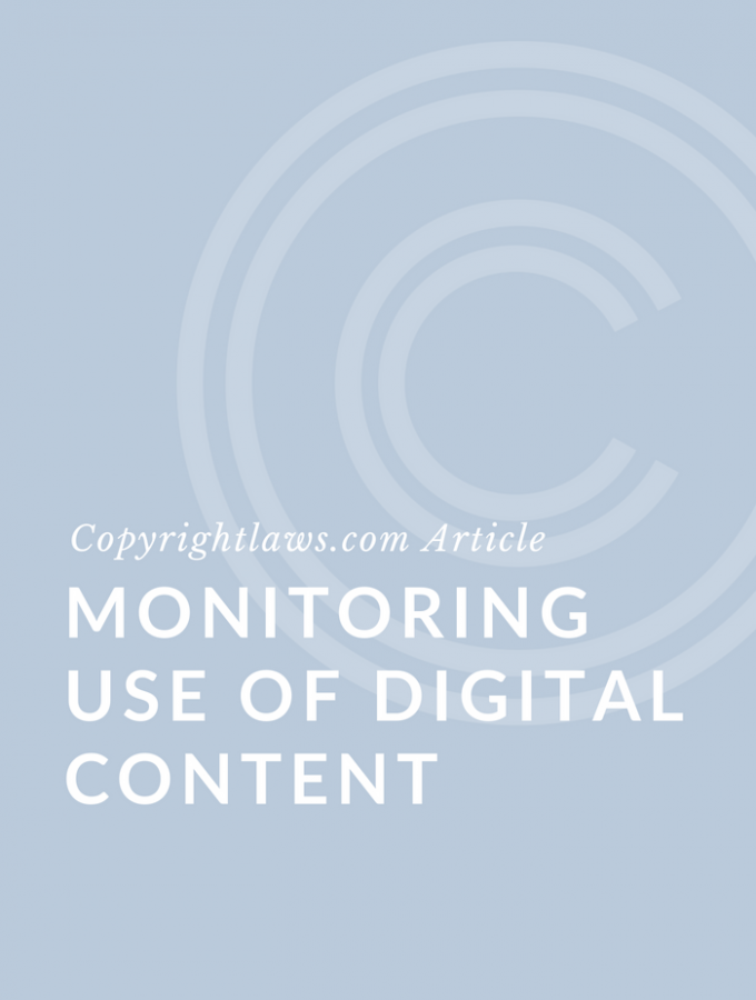 Monitoring Use of Digital Content