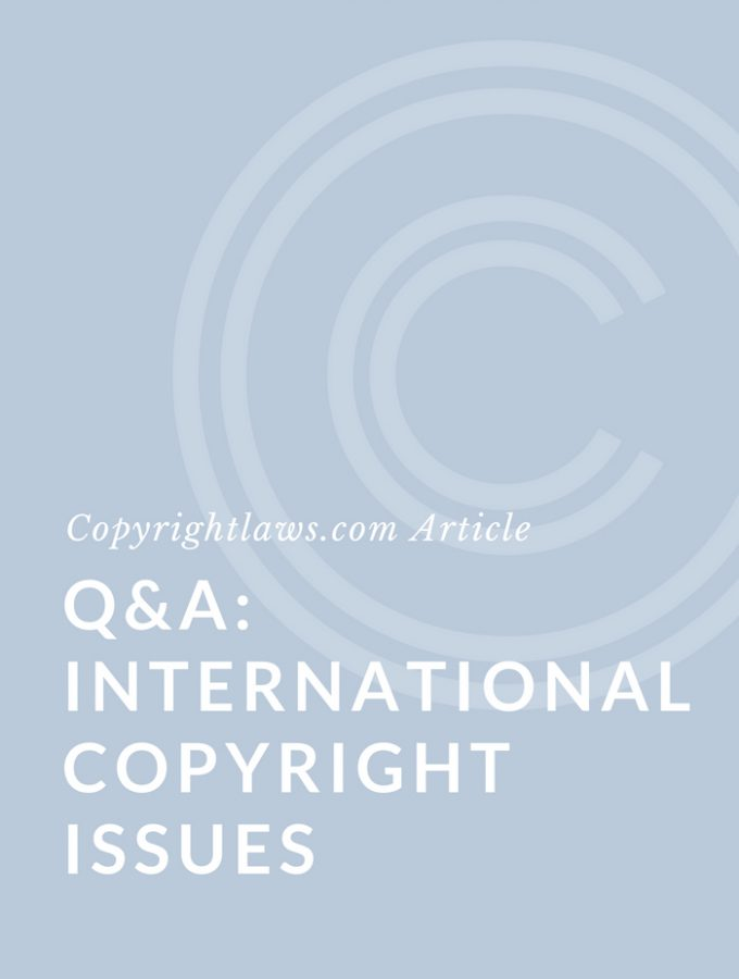 Q&A: International Copyright Issues