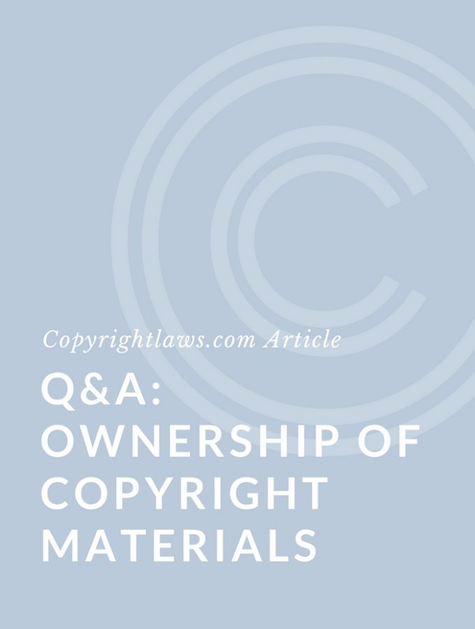 Q&A: Copyright Ownership and Duration