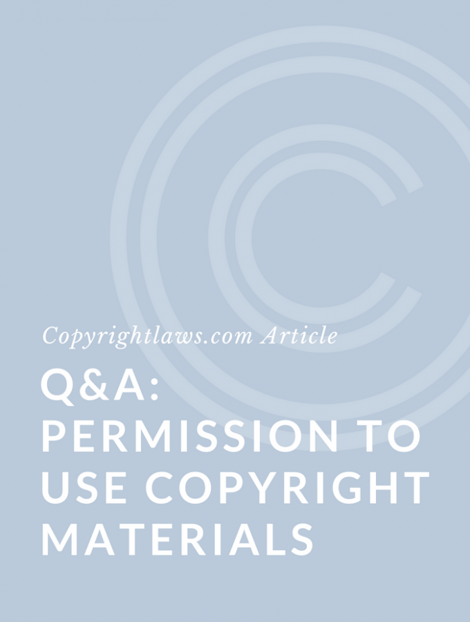 Q&A: Permission to Use Copyright Materials