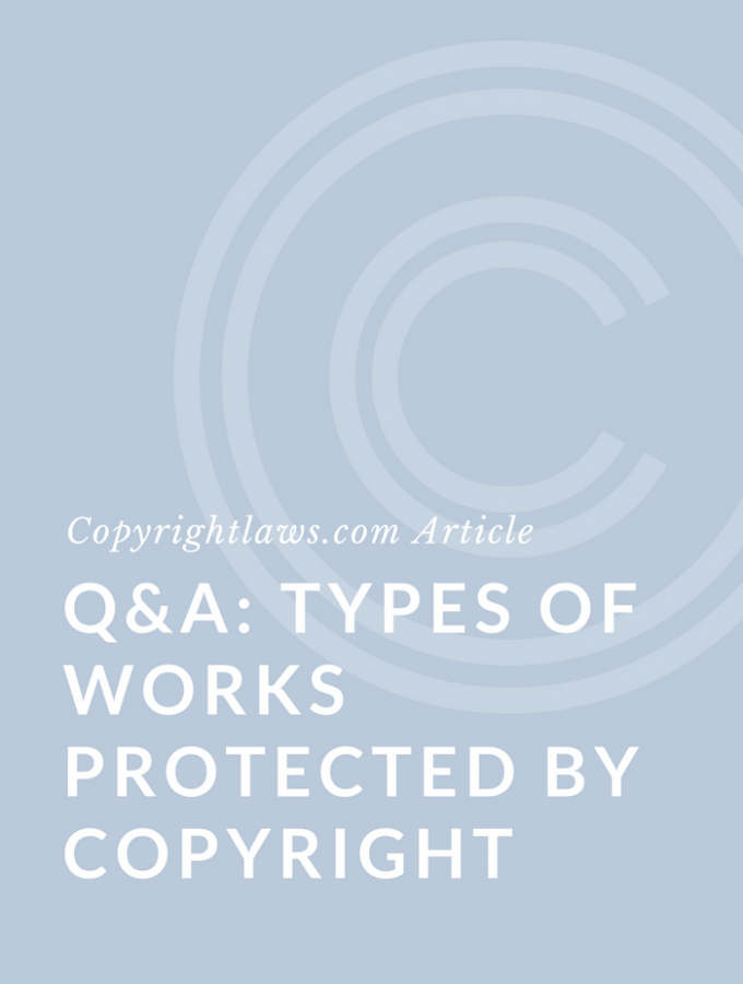 Q&A: Copyright-Protected Works