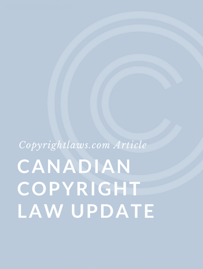 Canadian Copyright Law News