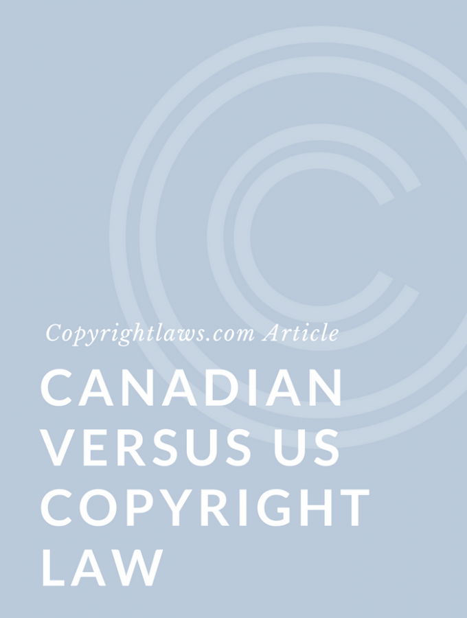 Canadian and U.S. copyright law
