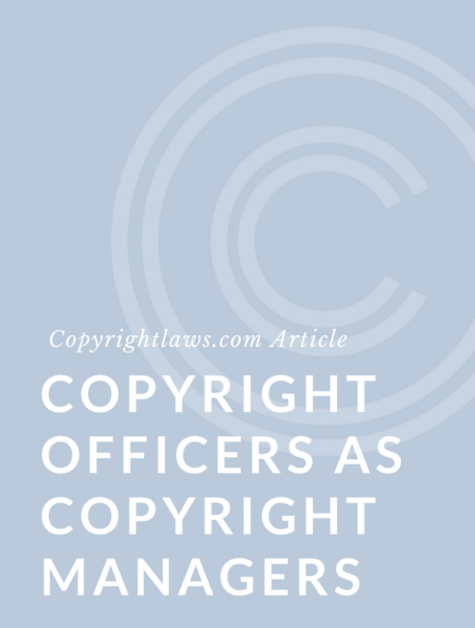 Copyright Librarians and Other Non-Lawyers as Copyright Managers