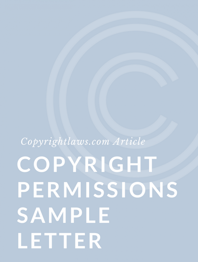 Copyright Permissions Sample Letter