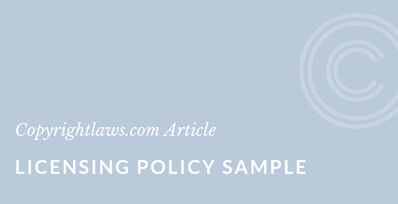 Sample for a Digital Licensing Policy