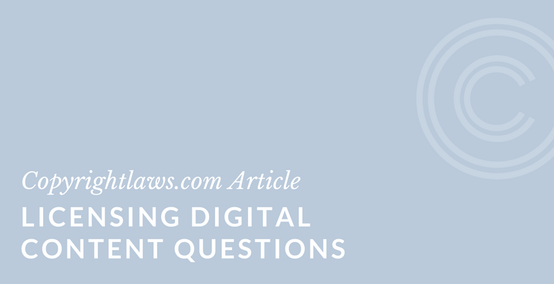 digital licensing questions
