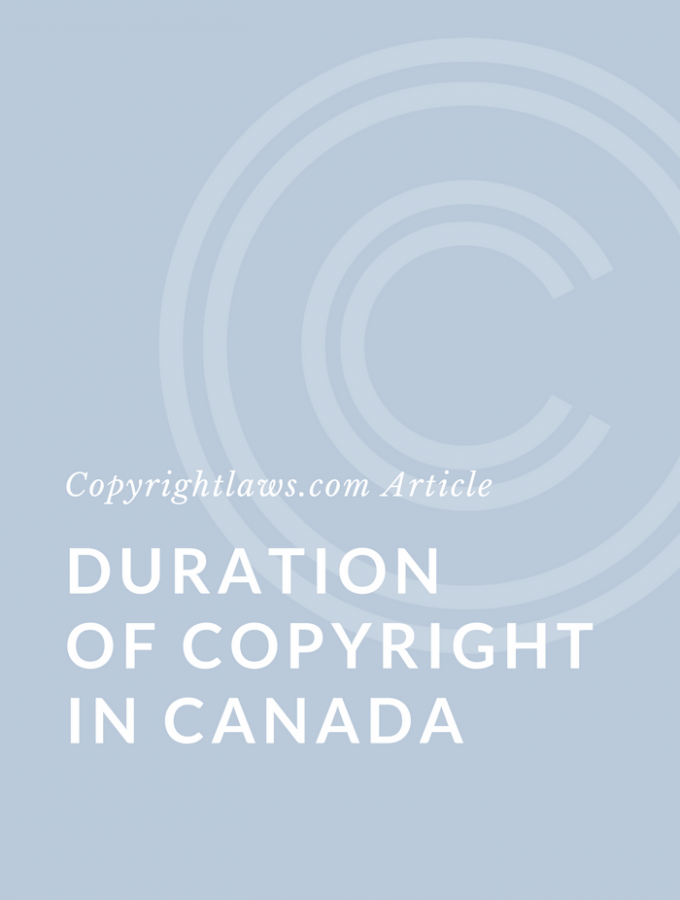 Duration of Copyright in Canada
