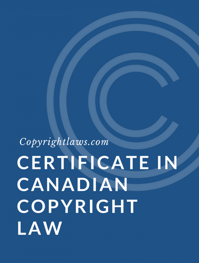 Certificate in Canadian Copyright Law