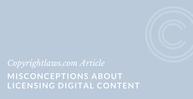 Misconceptions about Licensing Electronic Content