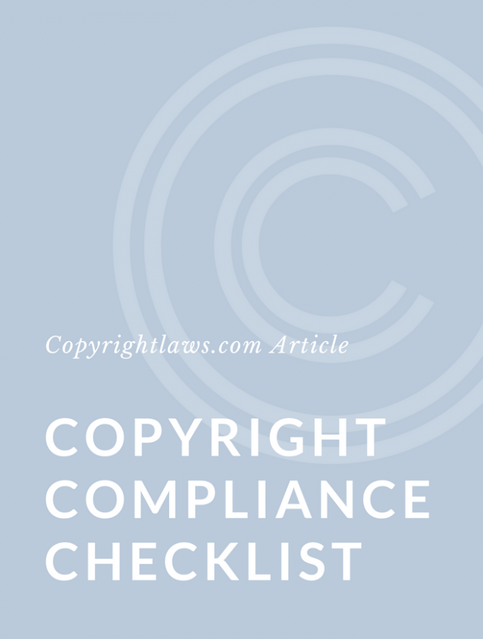 Copyright Compliance Checklist