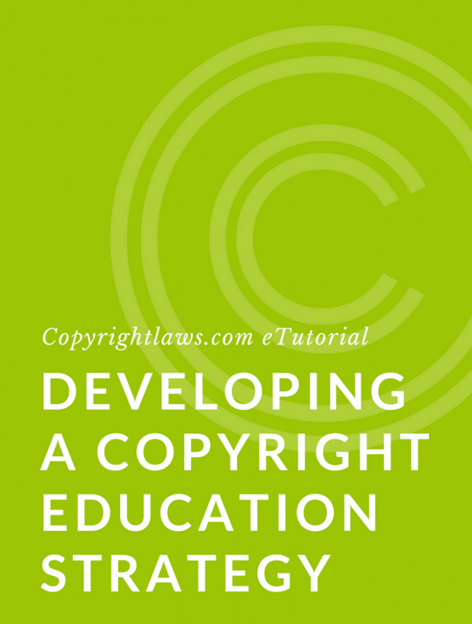 Writing a copyright education strategy or plan