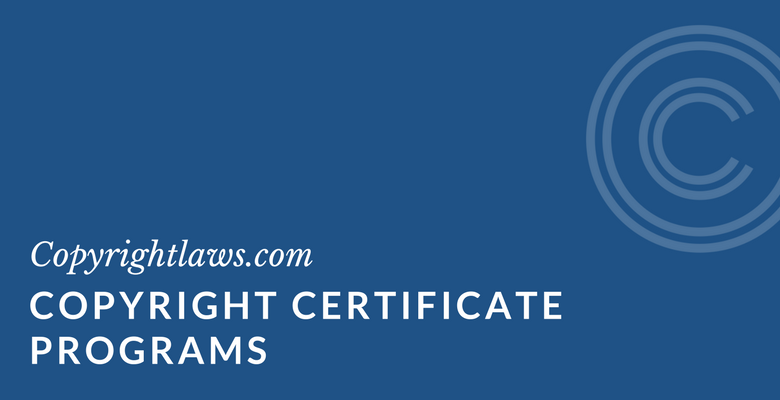 Copyright certificate programs