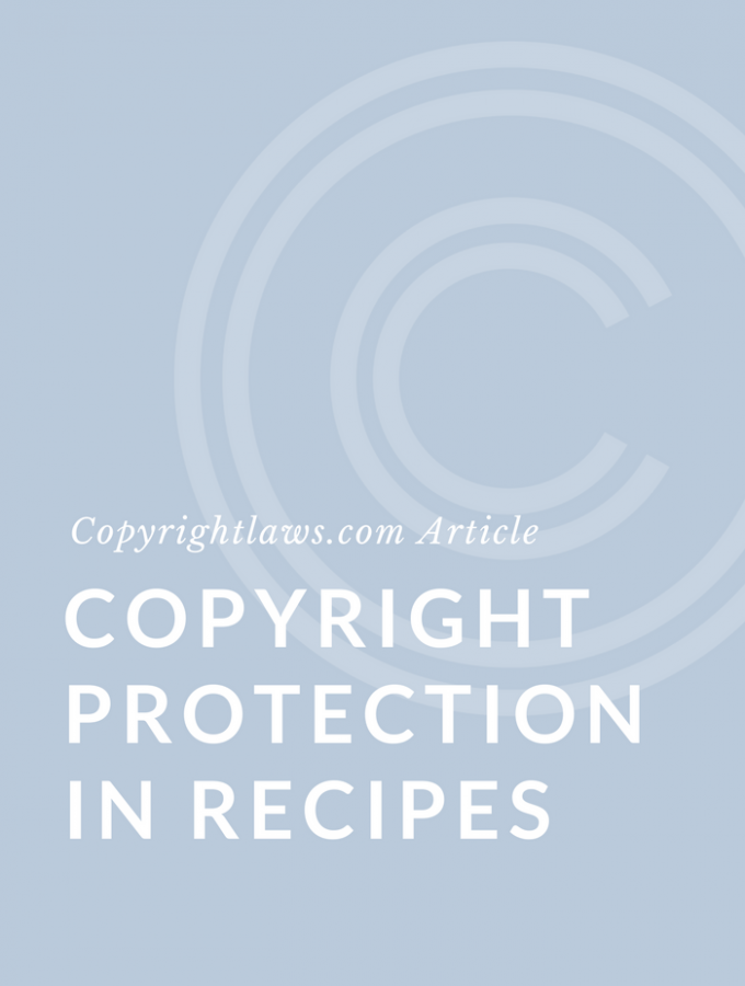 Copyright protection in recipes