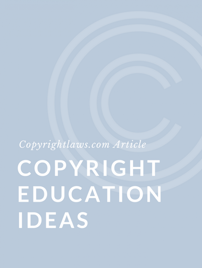 Copyright Education Ideas