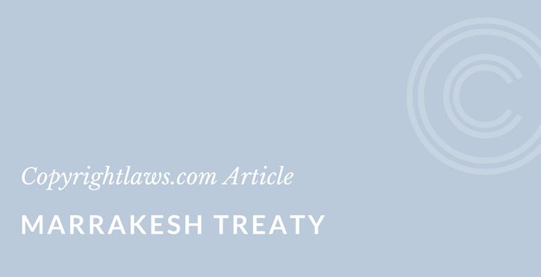 Marrakesh Treaty becomes effective