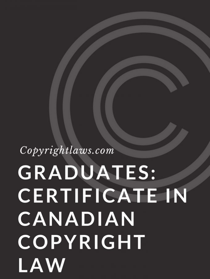 Graduates: Certificate in Canadian Copyright Law