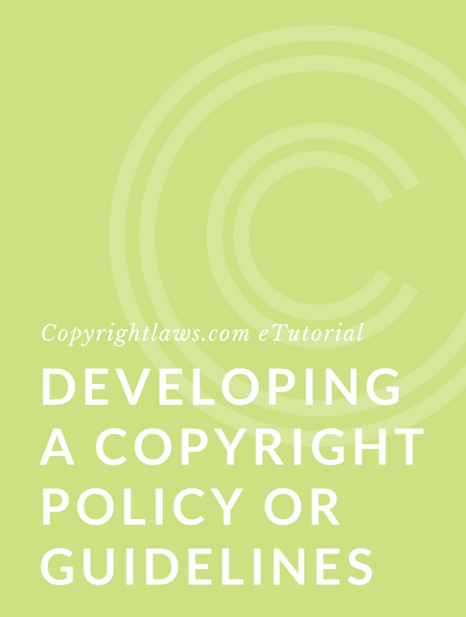 How to write a copyright compliance policy