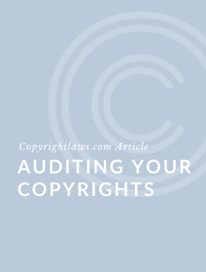 Auditing Your Copyrights