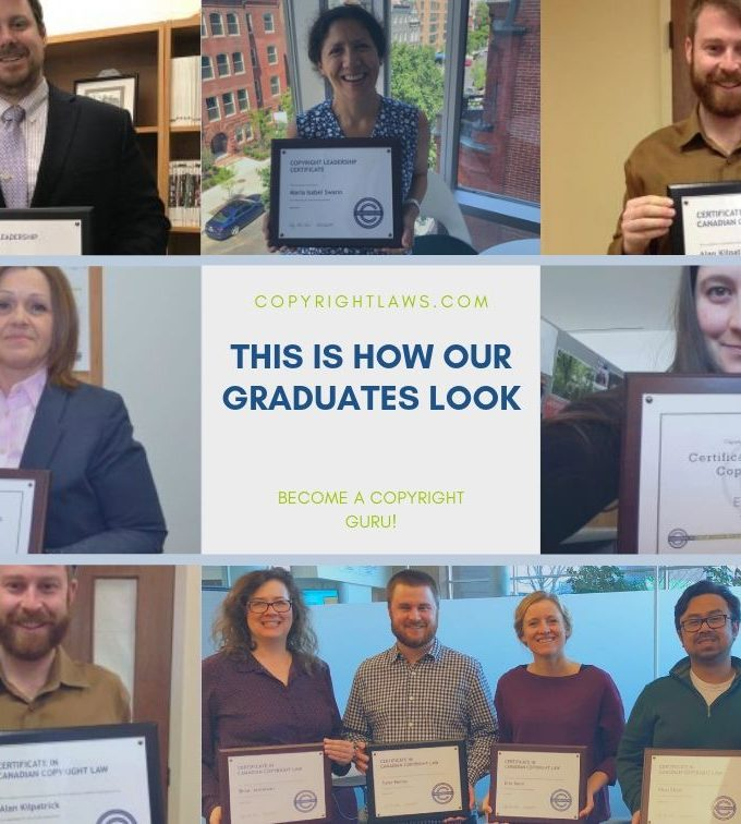 Copyright Certificate Graduates