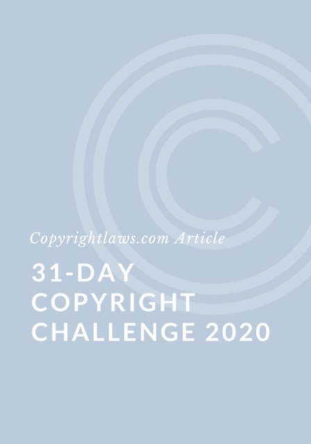 31-Day Copyright Challenge 2020