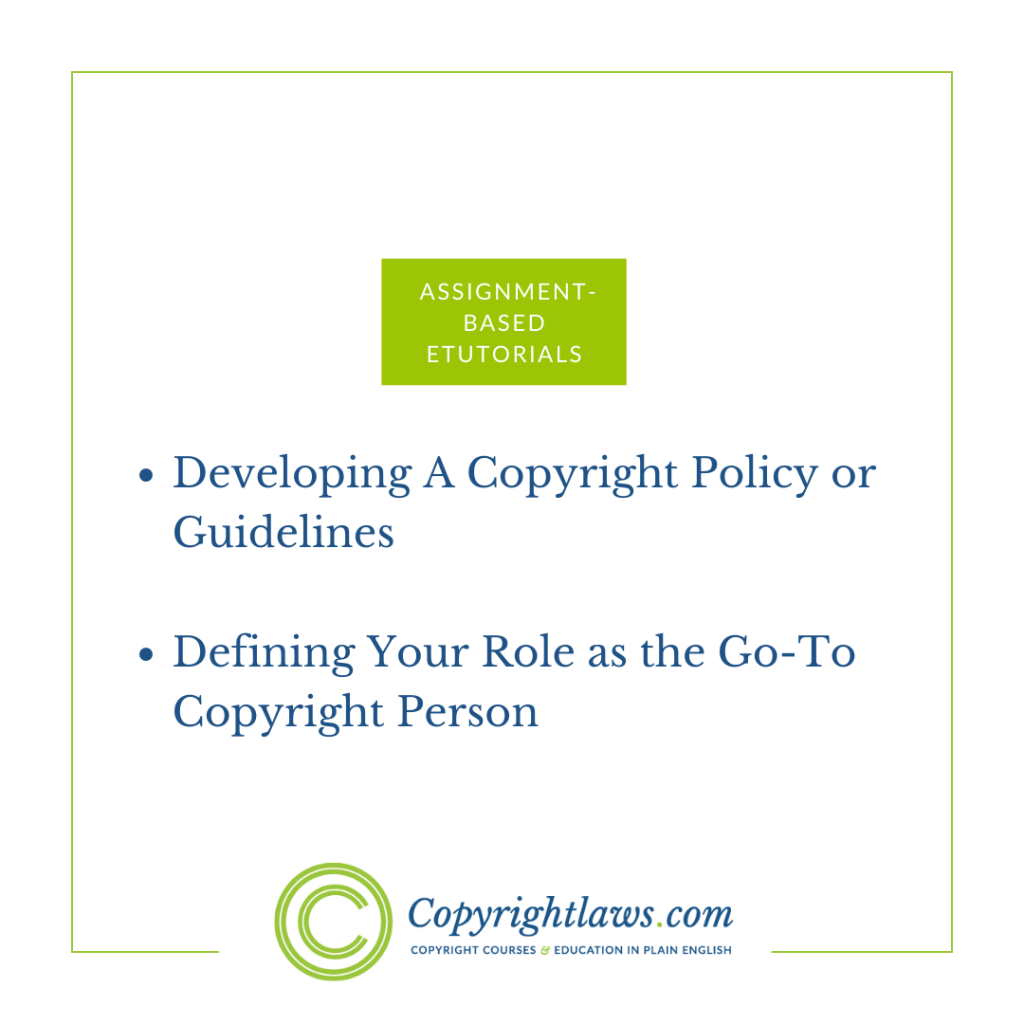 Online copyright course